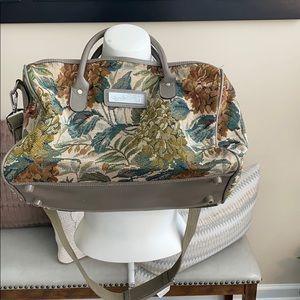 DVF Floral tapestry Duffle Bag